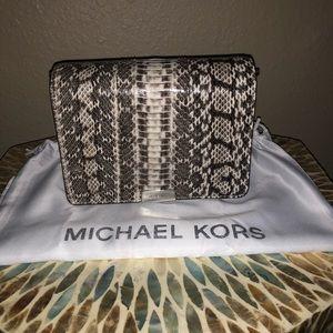 78477daa6440 Michael Kors Bags - MK Jade Snakeskin Clutch